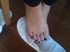 ExGF Candid Sexy Feet black nail polish!