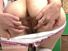 Schoolgirl Tiffanny and her hairy pussy