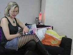 Alicia styles Pamela Mann Sheer Side Slash Tights