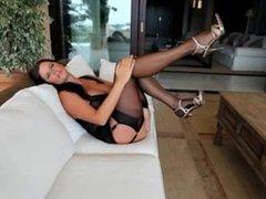 MILF in lingerie teasing