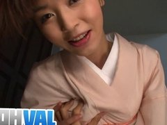 Teen Marika gives an asian pov blowjob and swallows cum