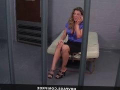 Kayla Paige Sucks and Fucks a Cop To Get Out of Jail