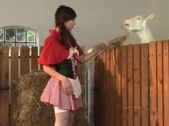 Country girl gets her ass fucked in the hay