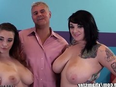 ImmoralLive Interracial Group Sex! HUGE TITS!