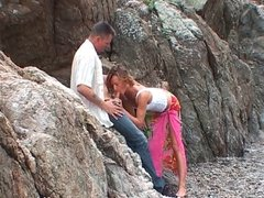 Anal sex on the beach for a french amateur couple