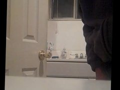 Step dad in the bathroom