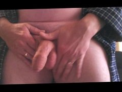 Hand lotion stroke and cum