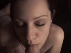 Dirtyy talking slut blowjob and tongue play - cum i n mouth