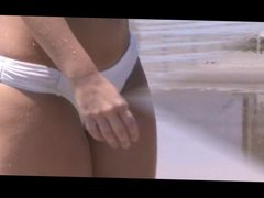 beach voyeur see thru bikini fat jiggly booty cameltoe