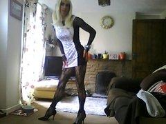 lil white clubbing dress