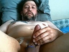 Cumshot on webcam