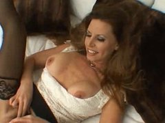 Busty MILF sucks and fucks