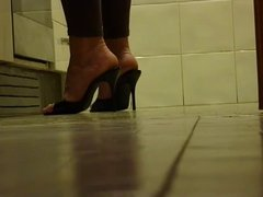 Sexy high heels on hidden cam