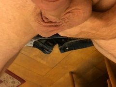 in the office down with the trousers and jerk off