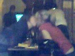 Girls Caught Kissing in London Restaurant