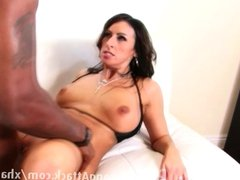 Brunette is getting fucked by a BBC