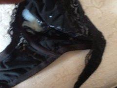 cum in big black bra of my wife