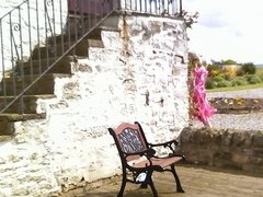 Holiday Cottage - Sissy poses on vacation