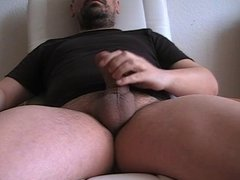 LATINO BEAR BUSTS A BIG THICK NUTT