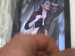 Cum Tribute to Emma Watson in Sexy Lingerie