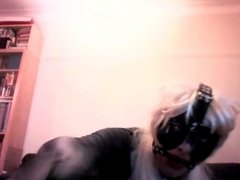 Masked Crossdresser part 3 - gagged and nose hooked
