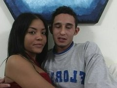 Amateur Couple Enrique and Jada First Time On Camera