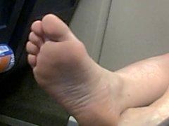 Dutch feet (soles) in train