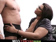 Married man cheats with dark fatty