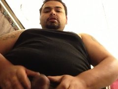 Chubby guy Jacking off