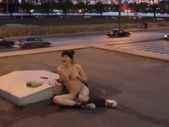 only in Russia women can safely naked on the streets