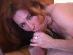Pierced pussy lips MILF in stockings hotel gangbang