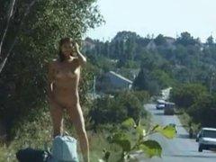 Naked hitch hiker