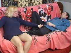 Blonde Russian MILF banged hard
