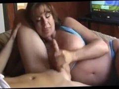 smoking hot mom bikini handjob