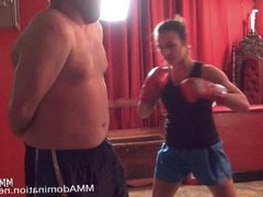 Trained MMA Girl Beating Guy - Real Hard Submission