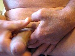 65 yrold Grandpa #13 mature penis close closeup wank uncut