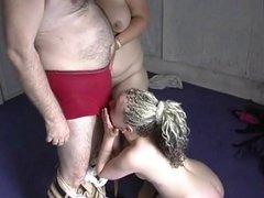 Older (and fat) couple have a threesome with young girl