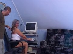 Granny and young man - 32