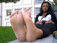 Cute black girl hot feet