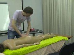 Nude amateur massage demonstration - gorgeous slim brunette