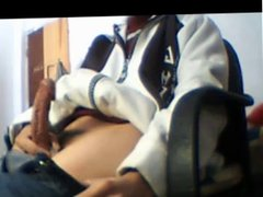 Teen Wanks At Desk