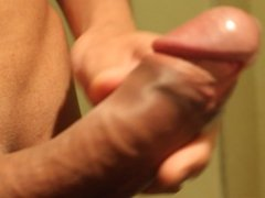 Asian Big cock masturbation and massive cumshot !