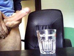Cuming into shot glass