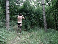 crossdresser in the wood