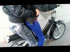 Leggings On Scooter