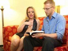 Carmen Valentina gives a holy man of faith a handjob!