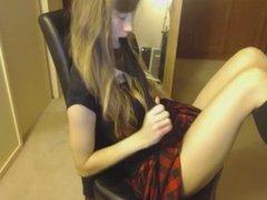 Sexy Teenage Girls Masturbates At Her Chair