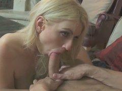 Blonde Cutie Get Splattered With Cum - LB