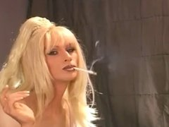 Two sexy CDs toying while smoking
