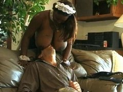 Huge Titted Fat Black Maid Wants White Cock
